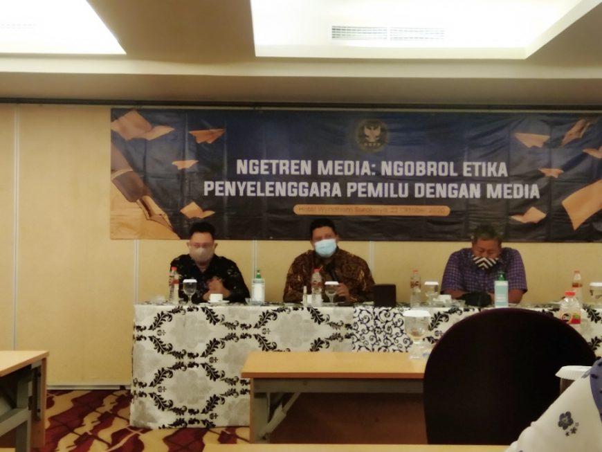 Ketua DKPP Prof. Muhammad saat kegiatan Ngobrol Etika Penyelenggara Pemilu dengan Media (Ngetren Media) /Ist