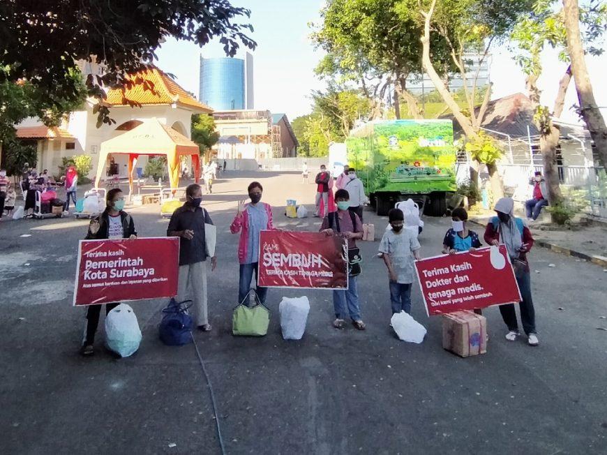 Pasien sembuh di Hotel Asrama Haji Sukolilo Surabaya   Dok. Redaksi