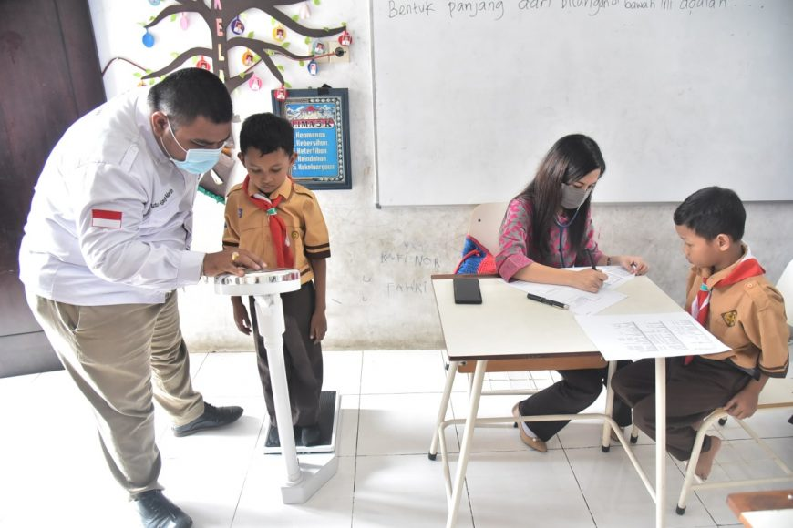 Dok. Imunisasi pelajar di sekolah sebelum pandemi Covid-19 /Ist