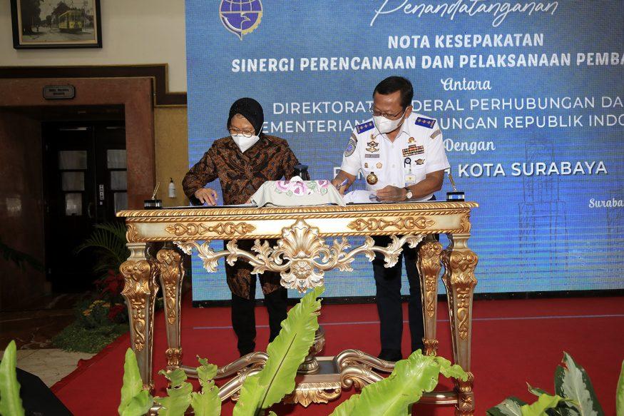 Wali Kota Risma dan Dirjen Kemenhub tandatangani MoU/ist