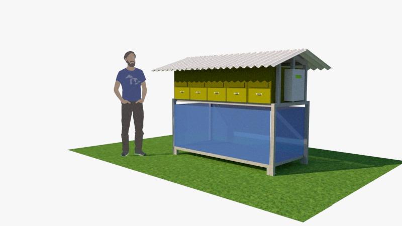 Rancangan KOMBO, tempat budidaya larva BSF /dok. Humas ITS