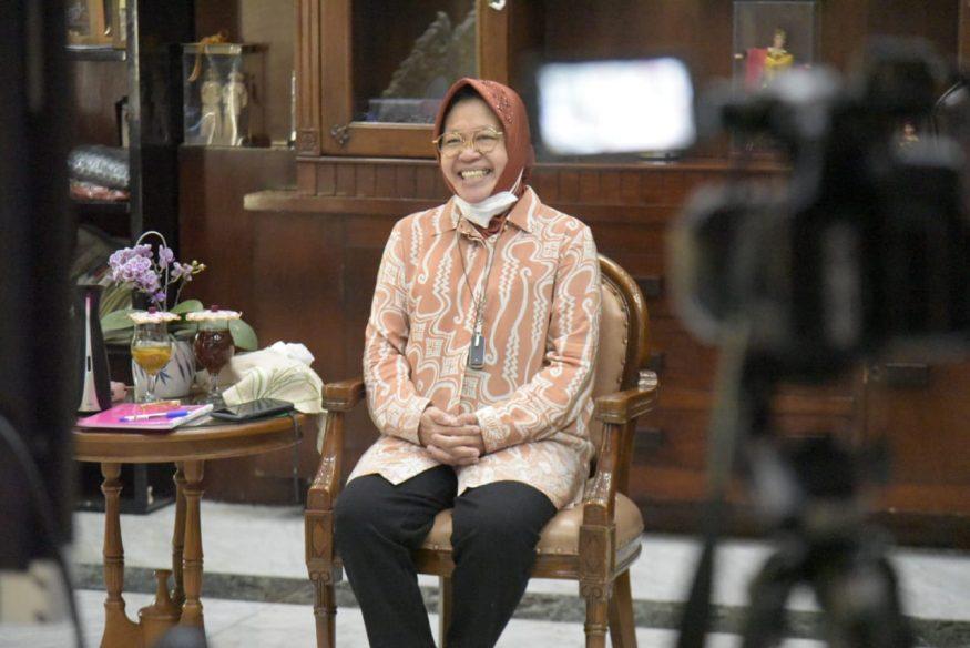 Wali Kota Risma saat cerita 1 dekade kepemimpinannya/ist
