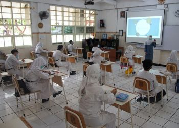 Dok. Simulasi sekolah tatap muka pelajar kelas IX SMP /Ist