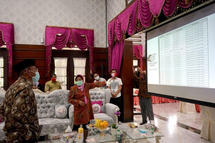 Wali Kota Risma jelaskan penanganan Covid-19 di Surabaya kepada Menteri Muhajir Effendi/ist