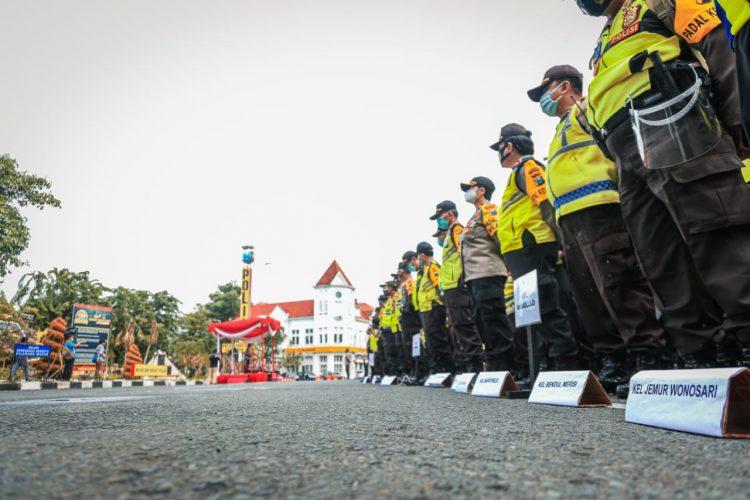Apel pengamanan TPS di Mapolrestabes Surabaya, Senin (7/12/2020) /Ist