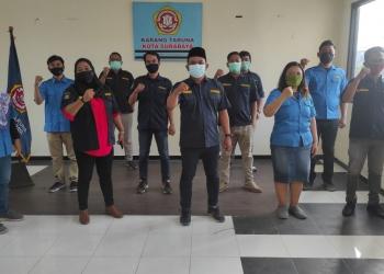 Syukuran berlangsung di Kantor Sekretariat Karang Taruna Kota Surabaya /Ist