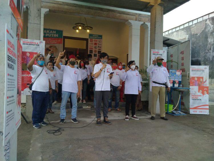 Gerakan Rabu Putih saat deklarasi/ist