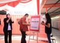Plt Wali Kota Surabaya saat meresmikan drive trhu Swab PCR/ist