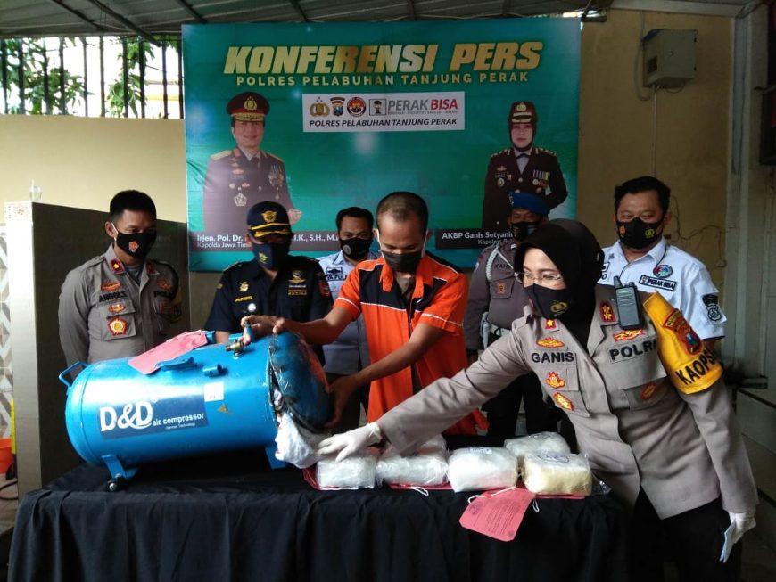 Konferensi pers penyelundupan sabu jaringan Malaysia /Ist