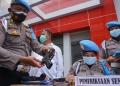 Total ada 69 senpi milik anggota Reserse Kriminal Umum yang dilakukan pemeriksaan /foto: Bicara Surabaya