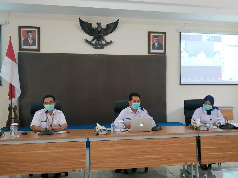 Virtual Meeting koordinasi persiapan pelayanan KB 2021 /Ist