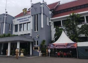 Posko Peduli Bencana dibuka sejak Senin (18/1/2021) kemarin di Balai Kota Surabaya /foto: Bicara Surabaya