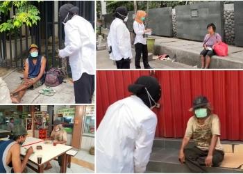 Mensos Risma saat menemui beberapa PMKS di Jakarta, Senin (4/1/2021) /Ist