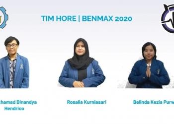 Tim Hore (dari kiri) M Dinandya Hendrico, Rosalia Kurniasari, dan Belinda Kezia Purwanto /Ist