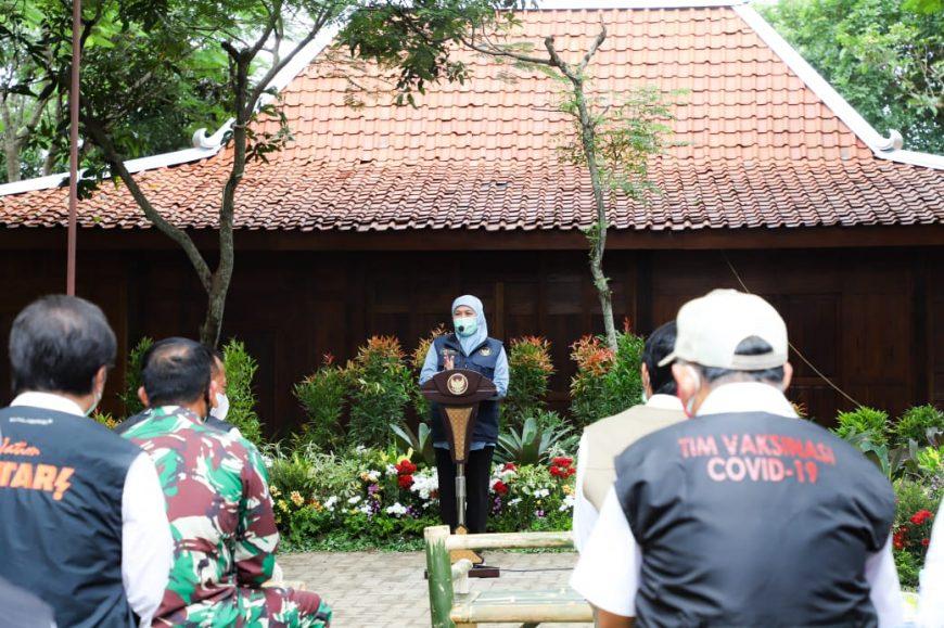 Gubernur Khofifah saat meresmikan RS Lapamgan di Madiun/ist