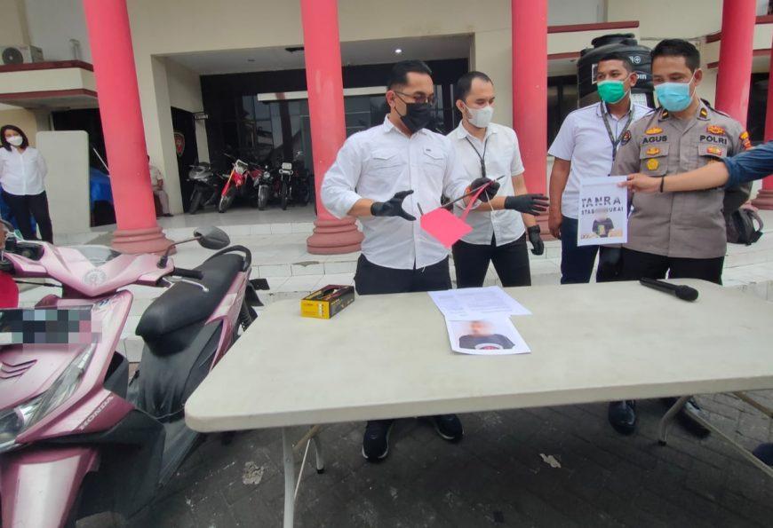 Polrestabes Surabaya saat menggelar konferensi pers kasus curanmor /Ist