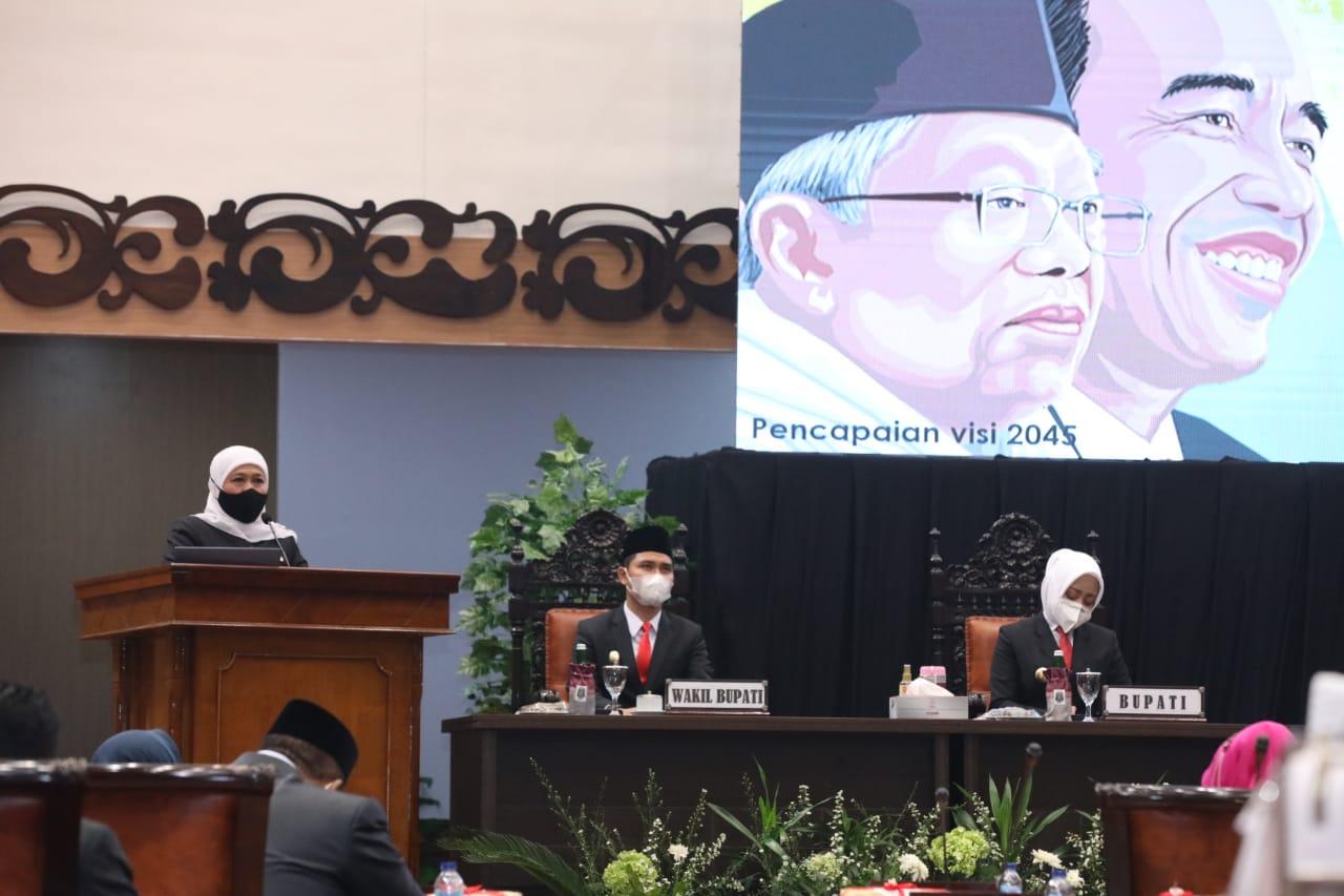 Gelaran sertijab Bupati dan Wakil Bupati Mojokerto di Gedung DPRD Kabupaten Mojokerto /Ist
