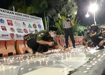 Aksi digelar sebagai bentuk keprihatinan terhadap aksi bom bunuh diri yang terjadi di Makassar /Ist