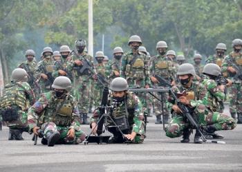 pemeriksaan kesiapan personel Yonif 3 Marinir /Dispen Kormar